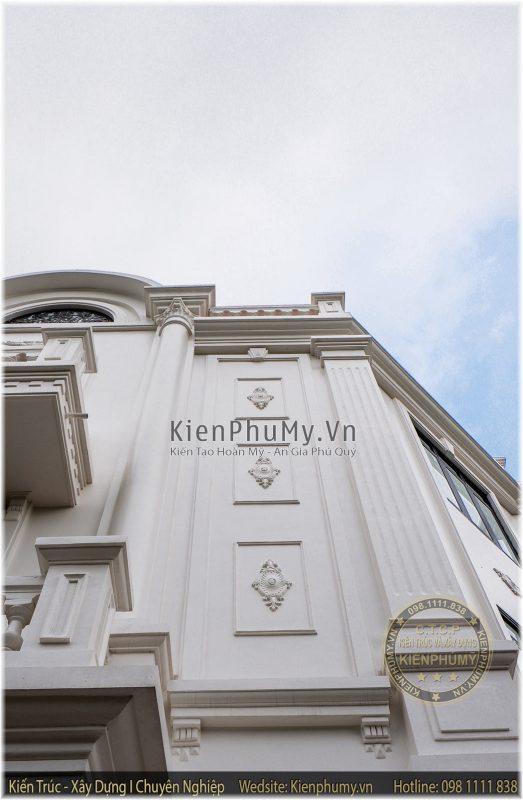 chi tiết đắp vẽ mẫu nhà lô phố 3 tầng cổ điển