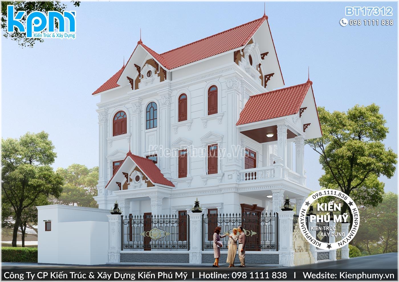 thiết kế thi công biệt thự cổ điển chuyên nghiệp tại Hưng Yên 11
