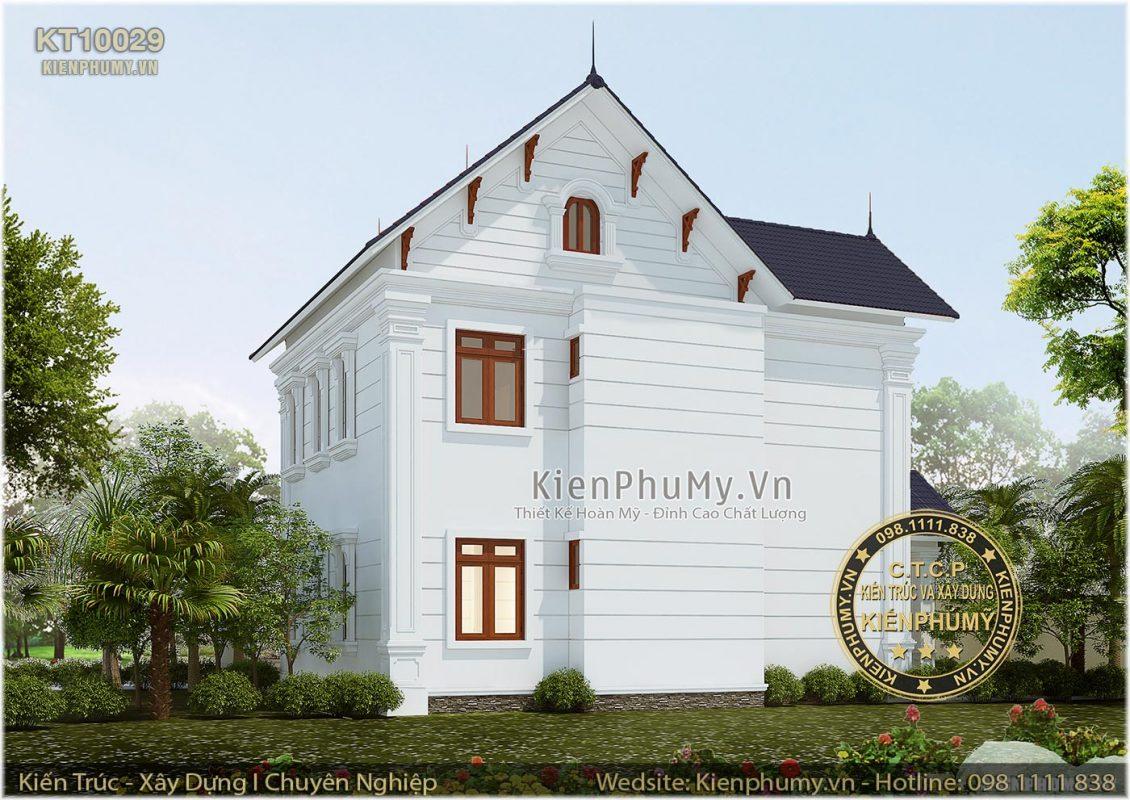 mẫu thiết kế nhà 2 tầng mái thái đẹp 2019