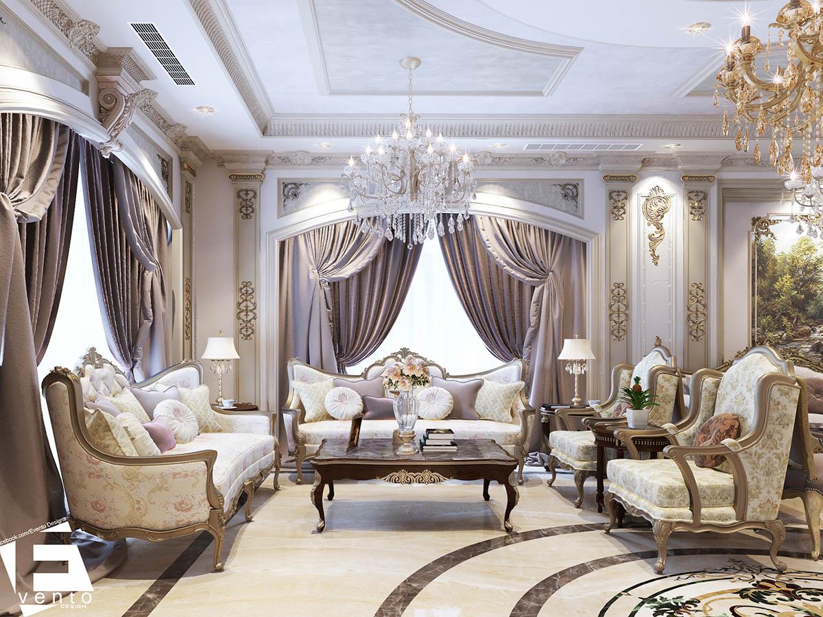 Thiết kế nội thất tân cổ điển đẹp nhất 2019-08