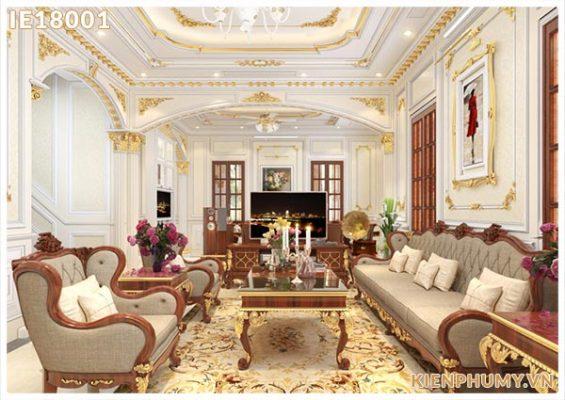 Mẫu nội thất phòng khách cổ điển đẹp