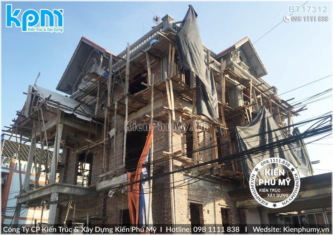 thiết kế thi công biệt thự cổ điển chuyên nghiệp tại Hưng Yên 05