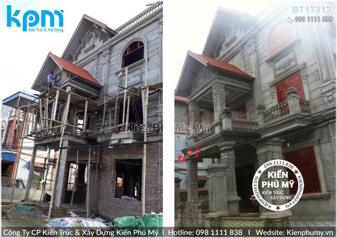 thiết kế thi công biệt thự cổ điển chuyên nghiệp tại Hưng Yên 02