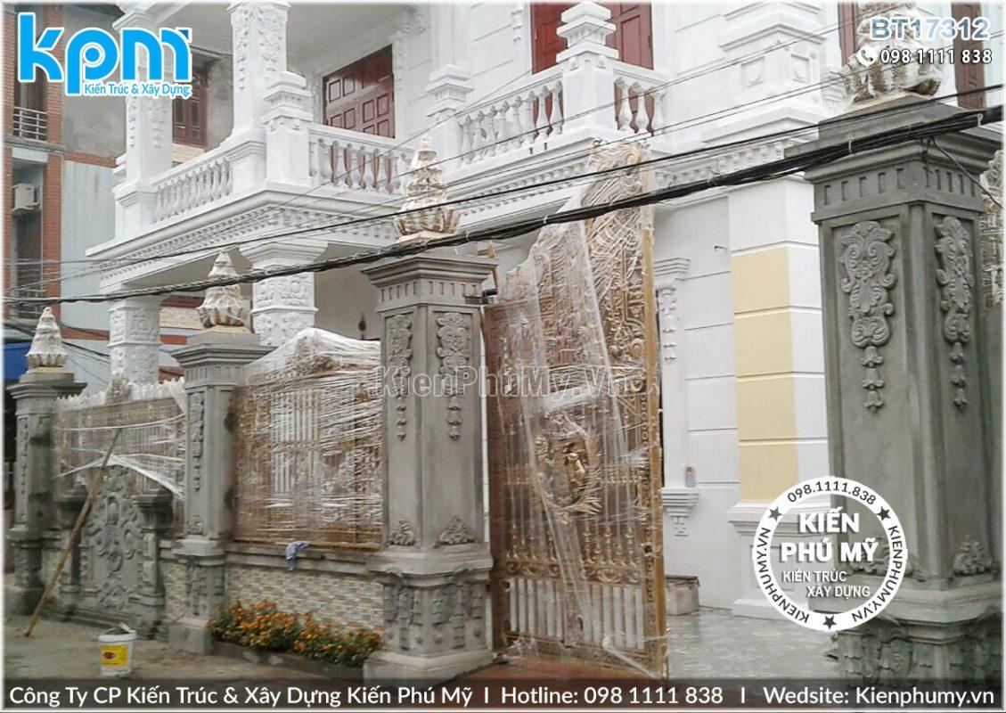 thiết kế thi công biệt thự cổ điển chuyên nghiệp tại Hưng Yên 01