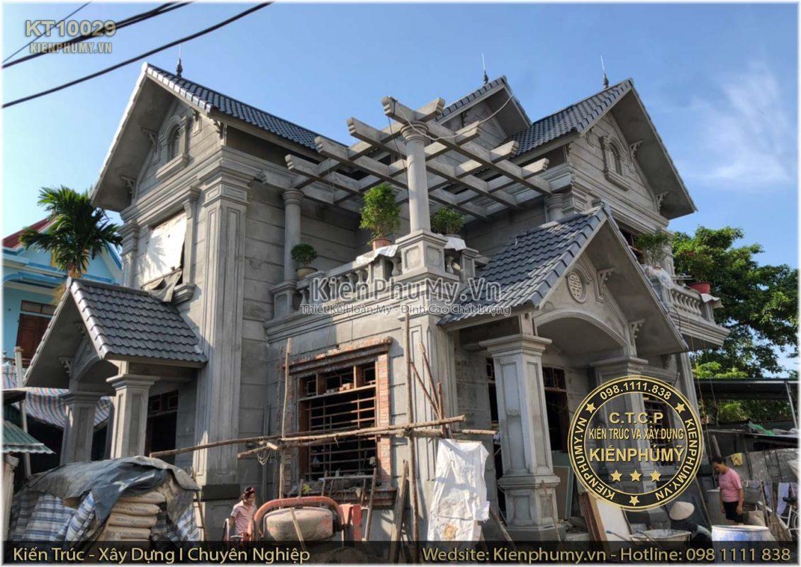 Thi công trọn gói biệt thự tân cổ điển tại Vĩnh Phúc