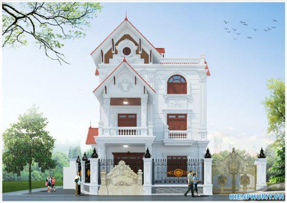 Thi công biệt thự cổ điển trọn gói tại Hưng Yên