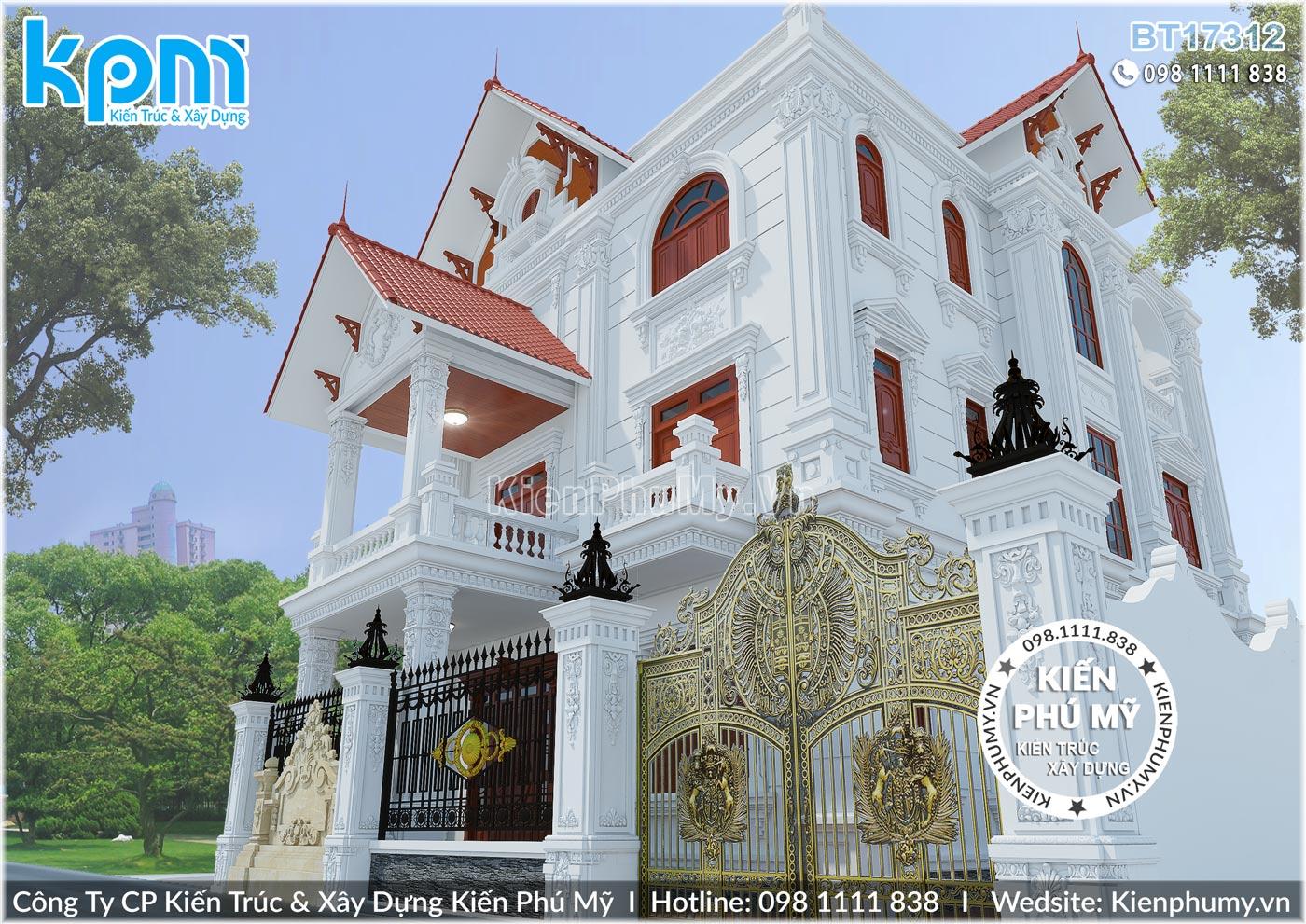 thiết kế thi công biệt thự cổ điển chuyên nghiệp tại Hưng Yên 10