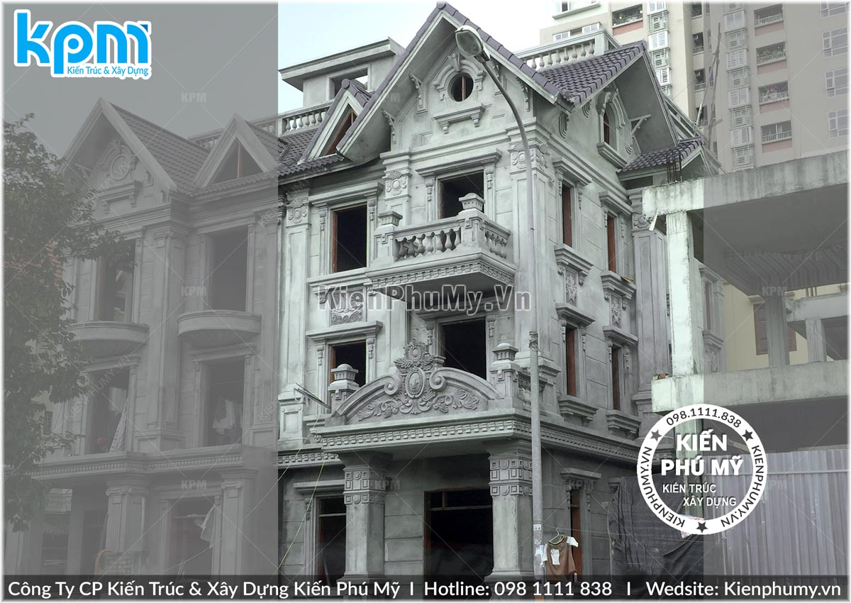 Thiết kế cải tạo biệt thự song lập kiến trúc cổ điển 02