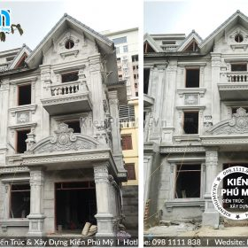 Thiết kế cải tạo biệt thự song lập kiến trúc cổ điển 03