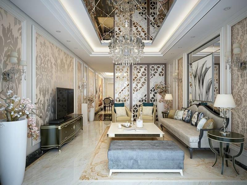thiết kế nội thất nhà phố đẹp phong cách cổ điển 02