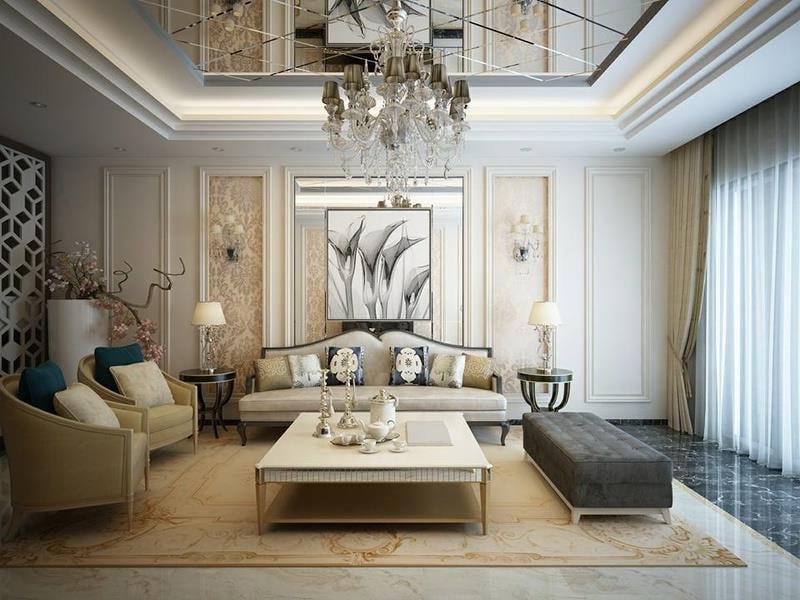 thiết kế nội thất nhà phố đẹp phong cách cổ điển 03