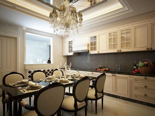 thiết kế nội thất nhà phố đẹp phong cách cổ điển 05