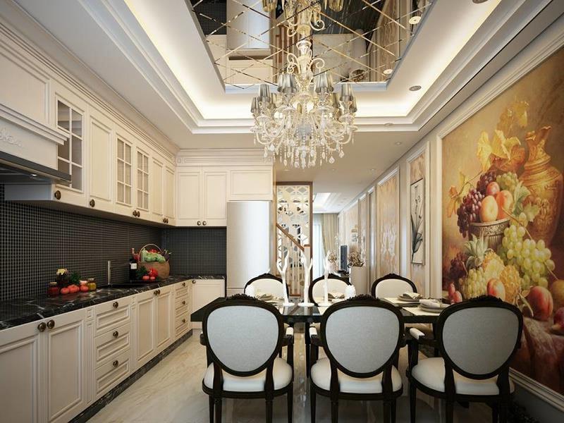 thiết kế nội thất nhà phố đẹp phong cách cổ điển 07