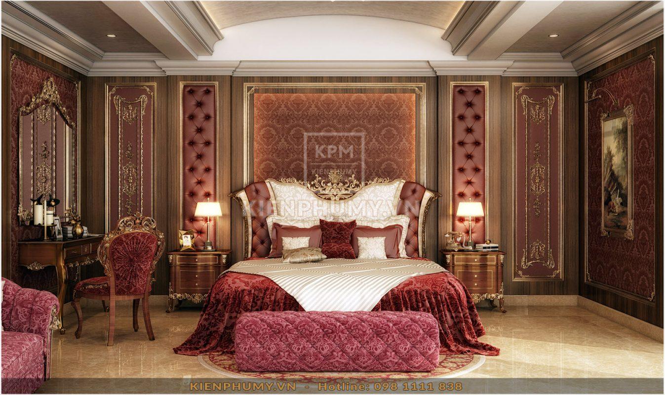 Thiết kế nội thất phòng ngủ tân cổ điển đẹp-04