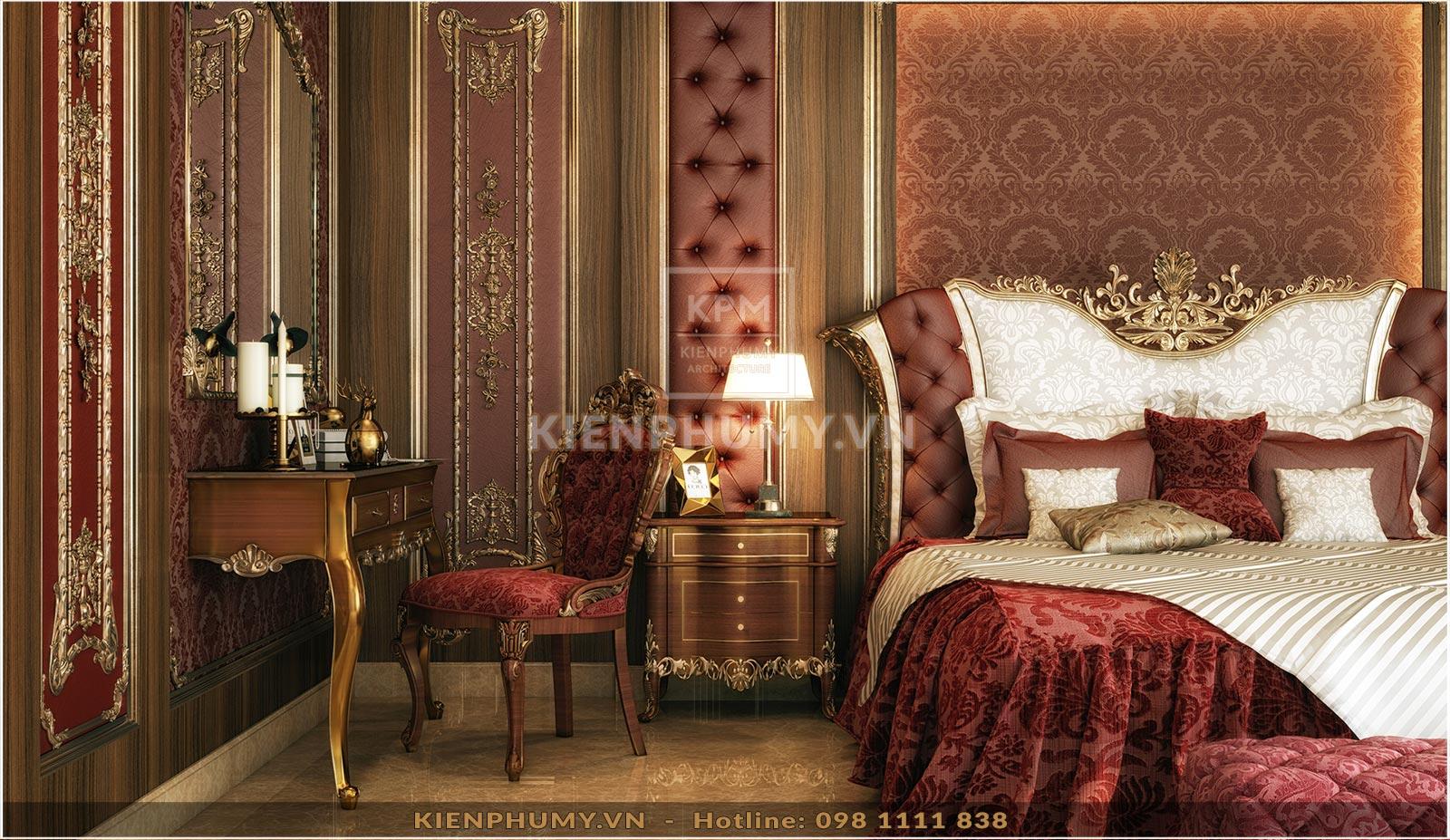 Thiết kế nội thất phòng ngủ tân cổ điển đẹp-05