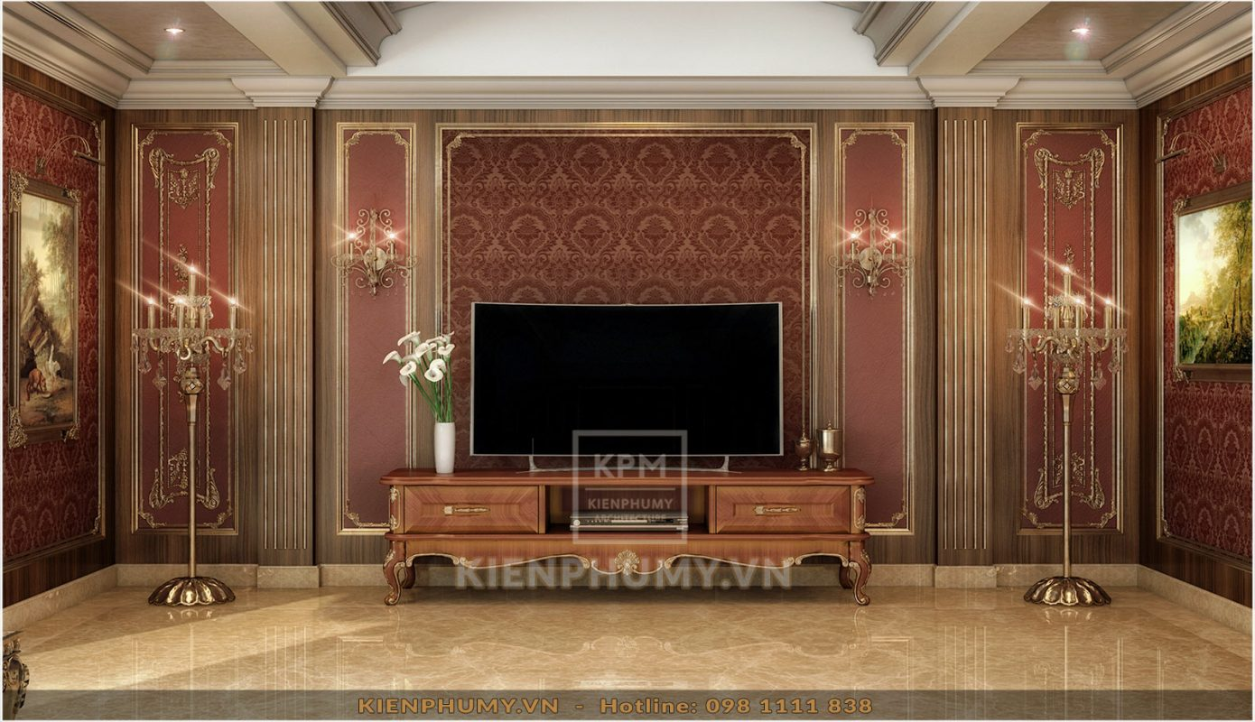 Thiết kế nội thất phòng ngủ tân cổ điển đẹp-06