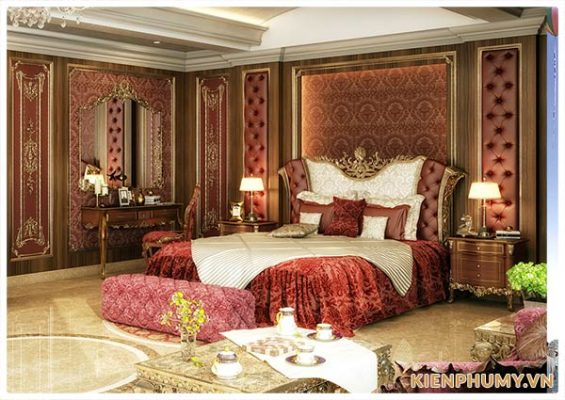 Thiết kế nội thất phòng ngủ tân cổ điển đẹp-01