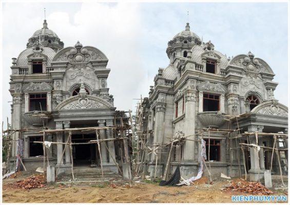 Thiết kế thi công biệt thự lâu đài 2 tầng 1 tum tại Vĩnh Phúc BT18005-12