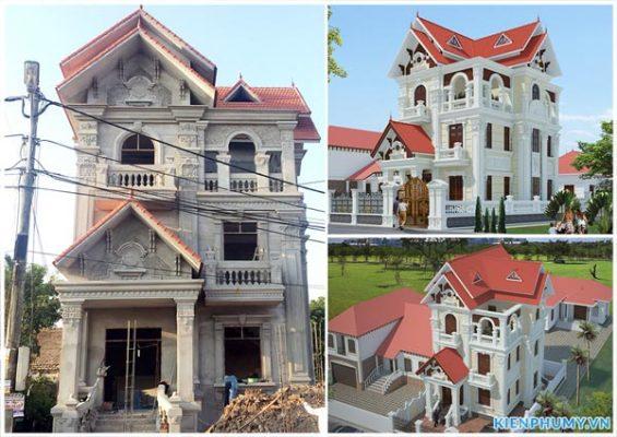 Thiết kế thi công trọn gói biệt thự tân cổ điển cao cấp tại Hà Nội