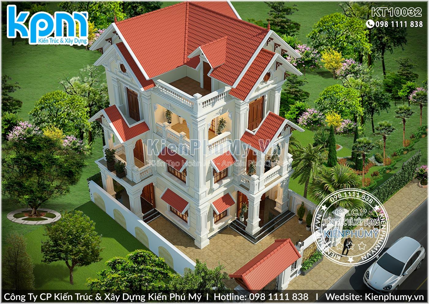 Thiết kế tổng thể căn nhà biệt thự 80m2