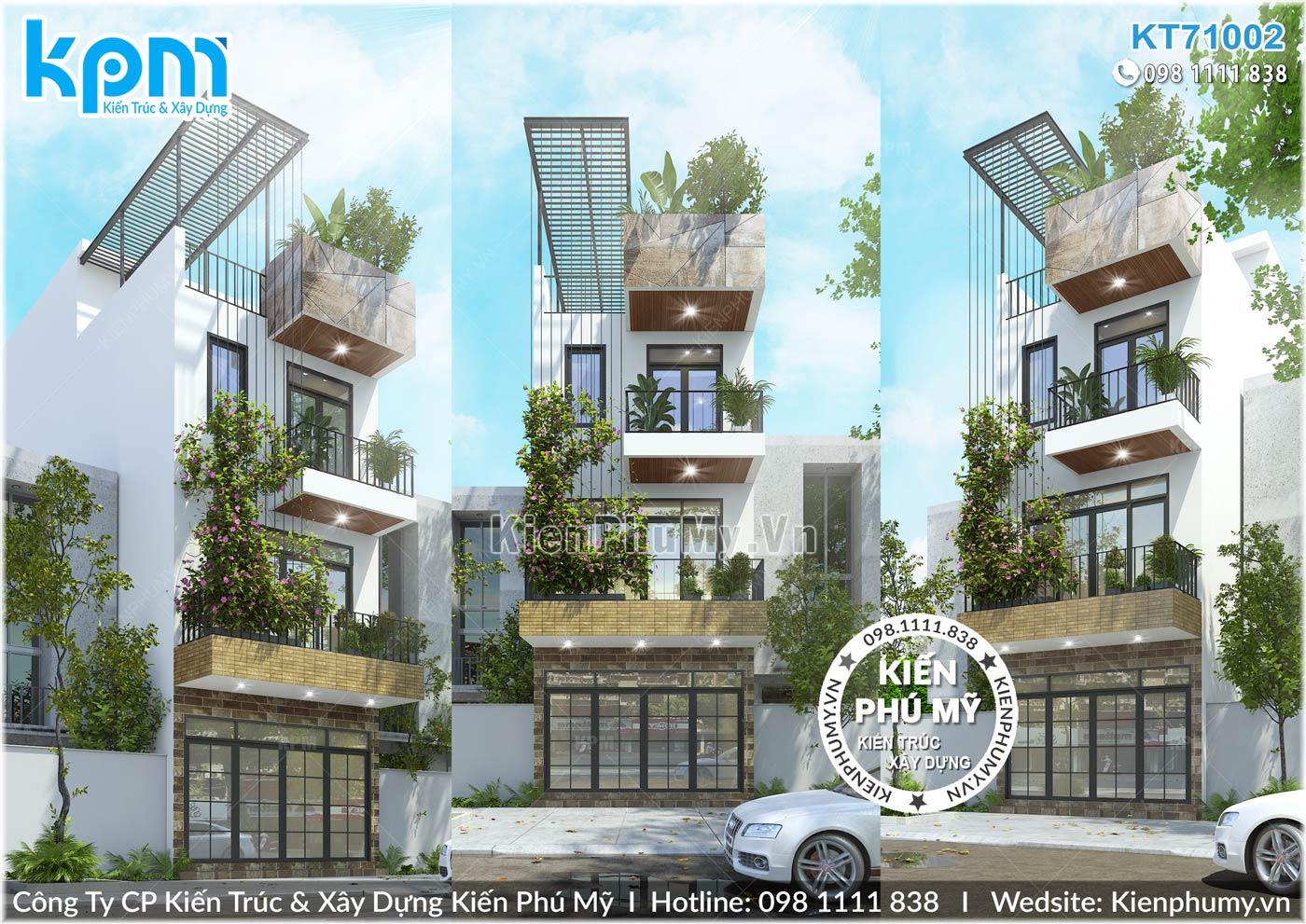 mẫu nhà phố hiện đại 3 tầng độc đáo ấn tượng tại Hải Dương