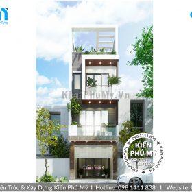 Thiết kế nhà lô phố 4 tầng hiện đại theo xu hướng mới nhất