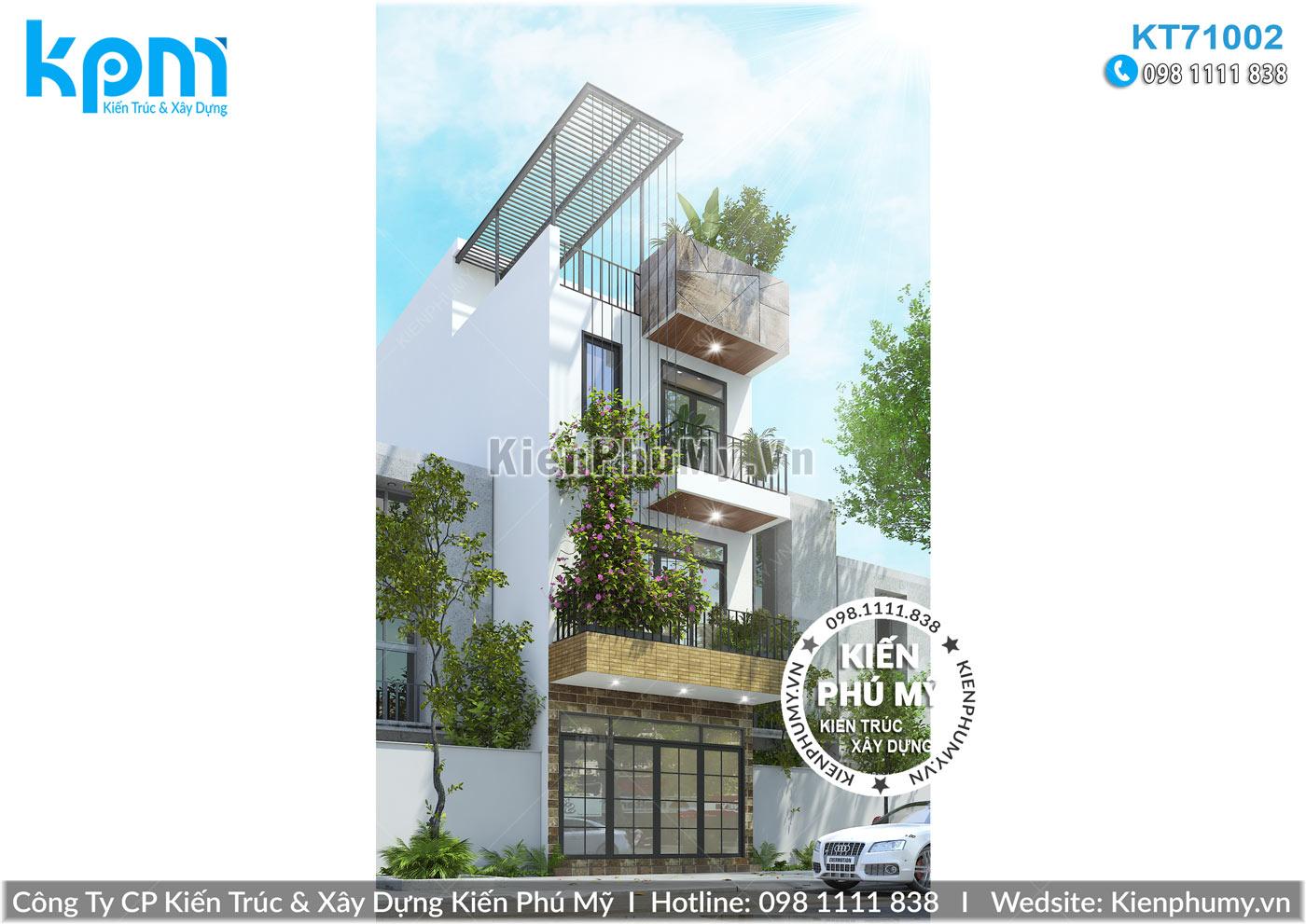 thiết kế nhà phố 3 tầng hiện đại đẹp tại hải dương