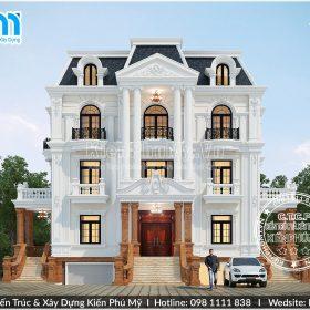 mặt tiền thiết kế rộng 14m sang trọng đẳng cấp của căn biệt thự tân cổ điển