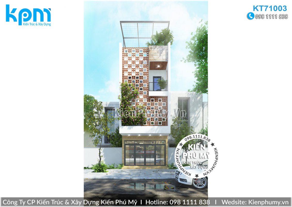 Mẫu thiết kế nhà lô phố hiện đại 3 tầng 1 tum mặt tiền rộng 5m đẹp