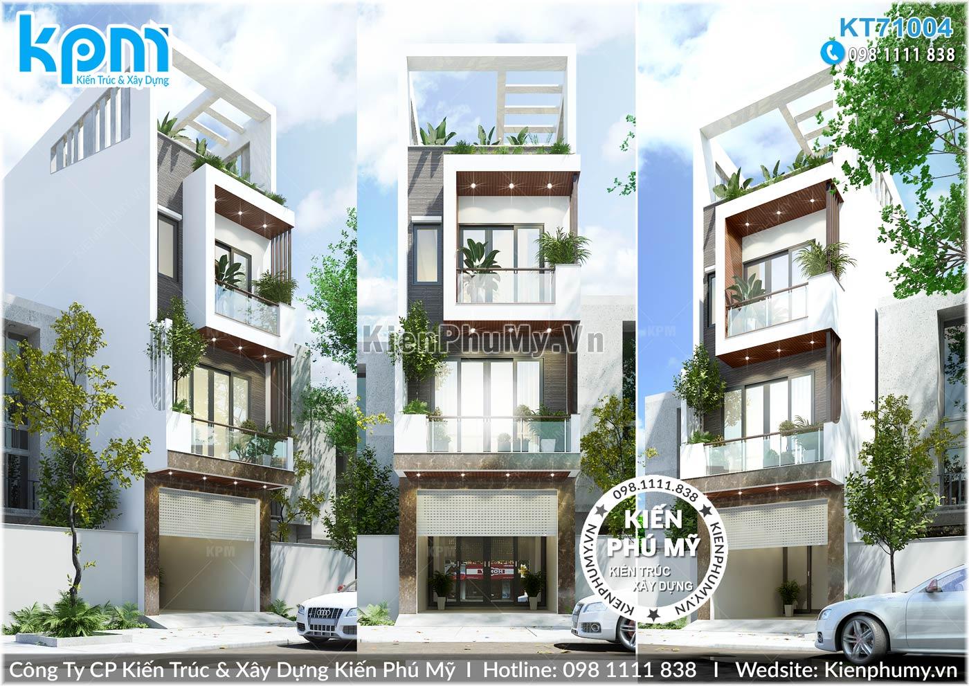 nhà lô phố mặt tiền 4.5m thiết kế hiện đại, ấn tượng tại Hải Dương