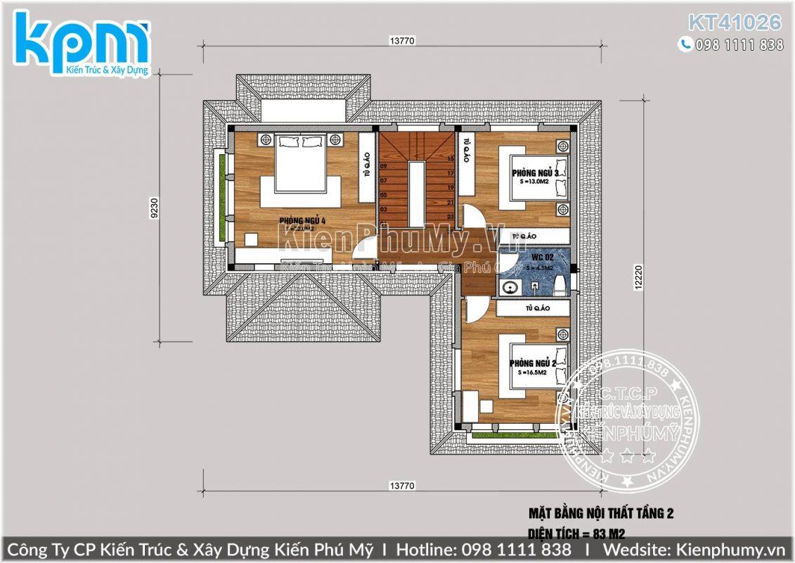 mặt bằng nhà 2 tầng chữ l 100m2/sàn giá rẻ