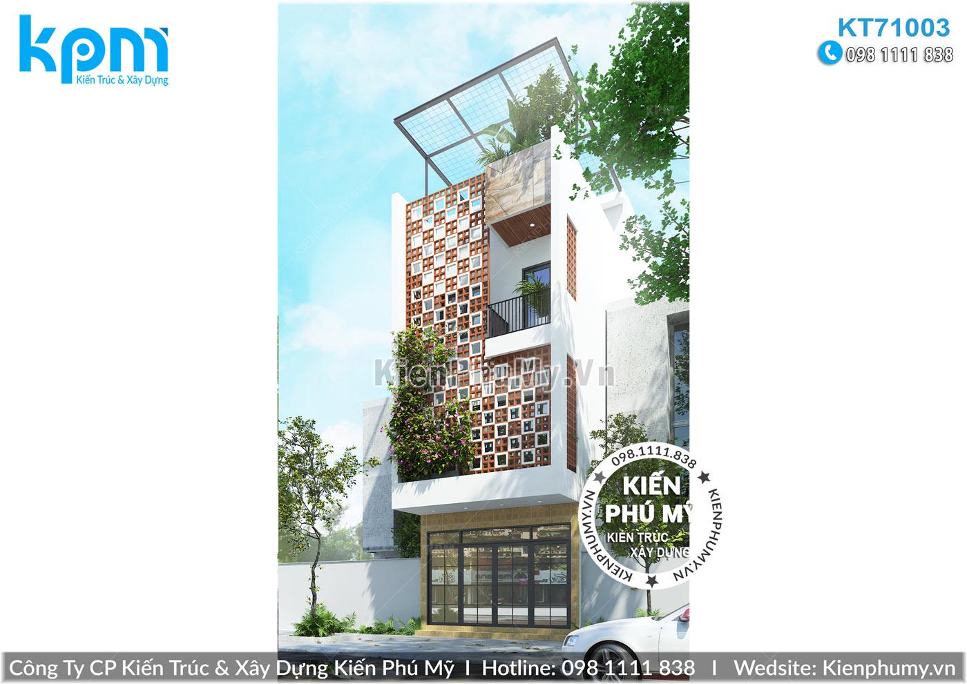 Mẫu nhà lô phố 3 tầng 1 tum đẹp phong cách hiện đại tại Nam Định