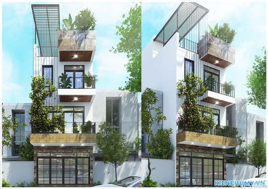 thiết kế nhà phố đẹp 3 tầng hiện đại mặt tiền 5m