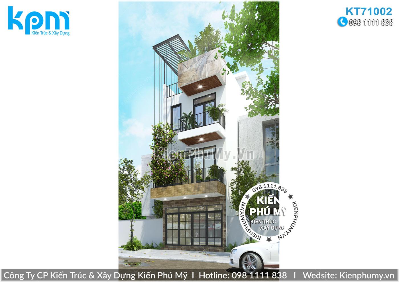 Thiết kế nhà lô phố 3 tầng mặt tiền 5m hiện đại ấn tượng tại hải dương