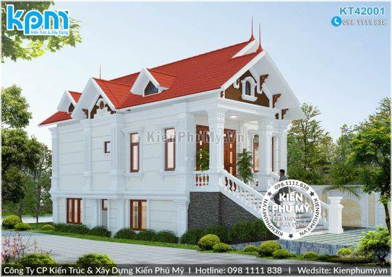 Biệt thự cổ điển 1 tầng mặt tiền rộng 7m
