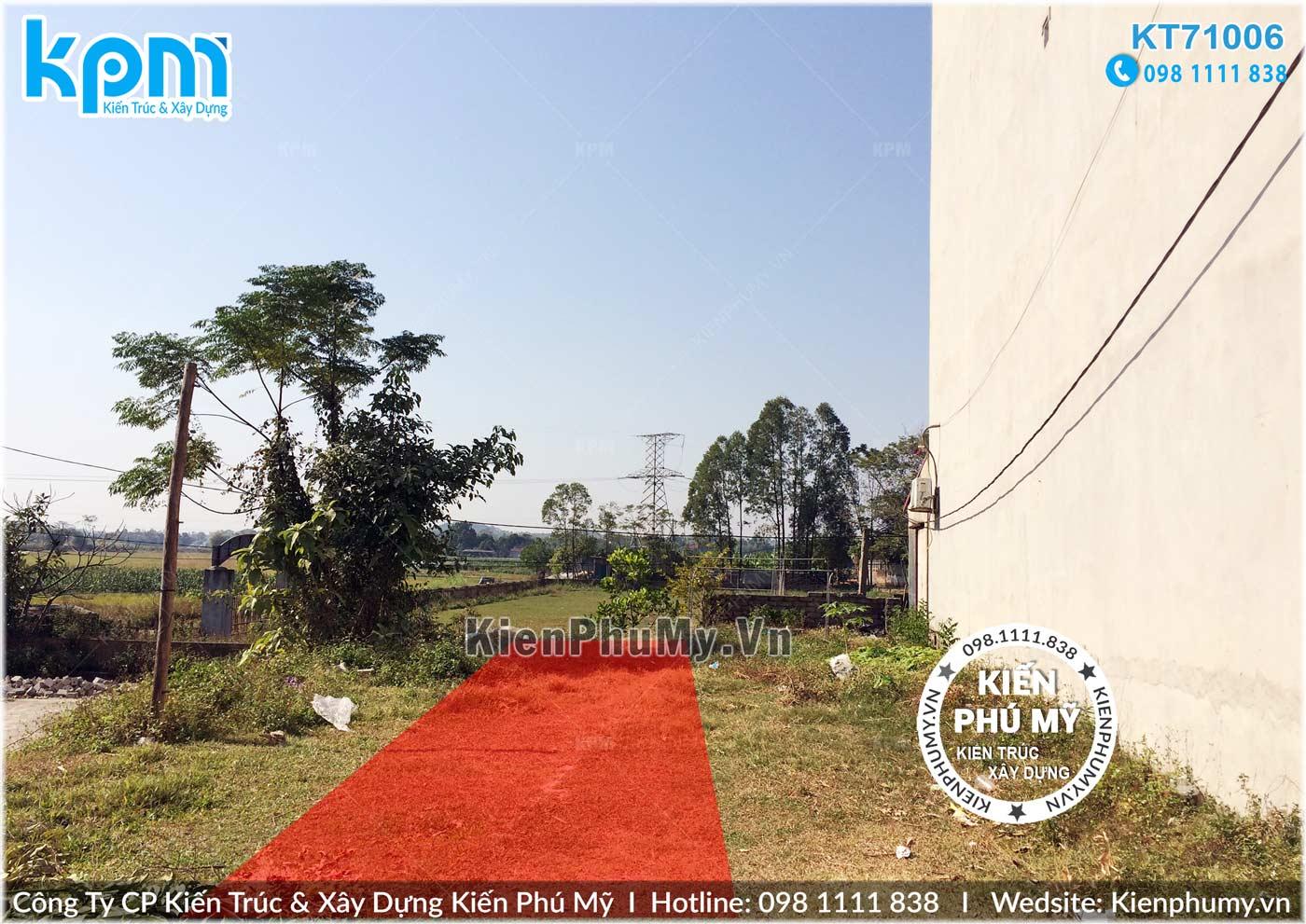 Hiện trạng đất thiết kế nhà lô phố 5x15m
