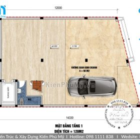 Mặt bằng nhà biệt thự 3 tầng 1 tum 9x15m