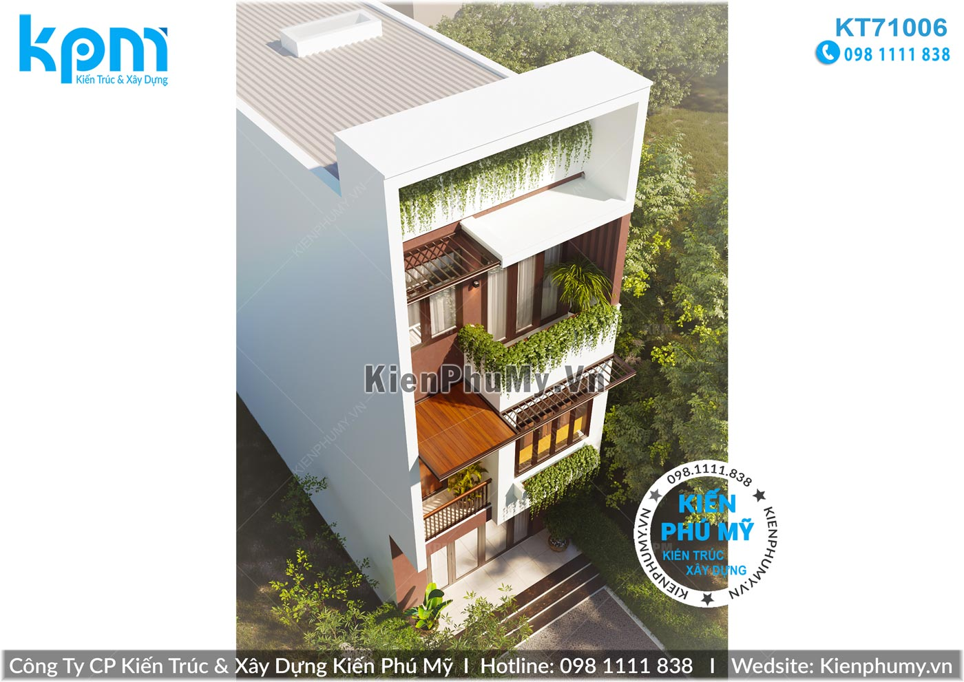 Thiết kế nhà lô phố mặt tiền 5m kiến trúc 3 tầng hiện đại
