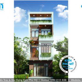 Mặt tiền nhà lô phố rộng 5m hiện đại ấn tượng tại Bắc Giang