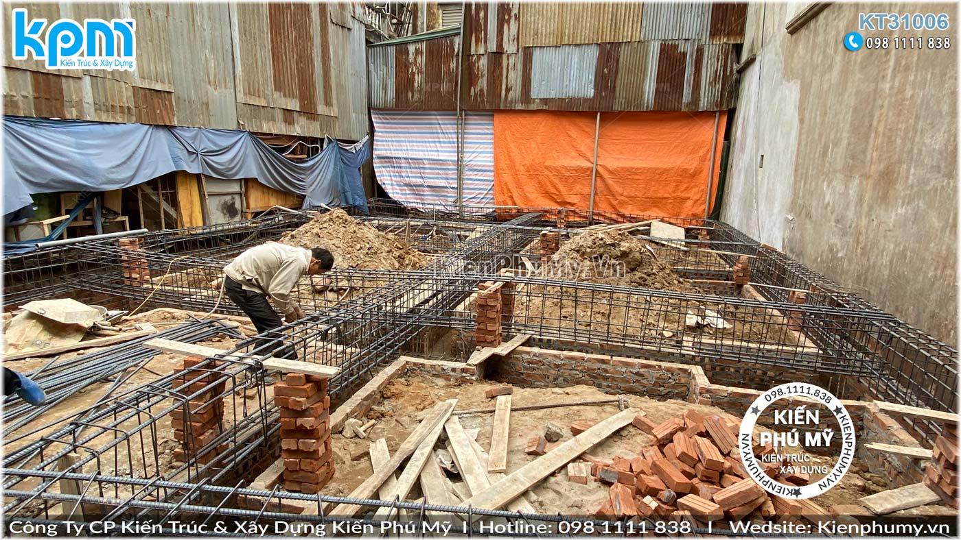 Thi công trọn gói công trình biệt thự hiện đại mặt tiền 9m tại Hà Nội