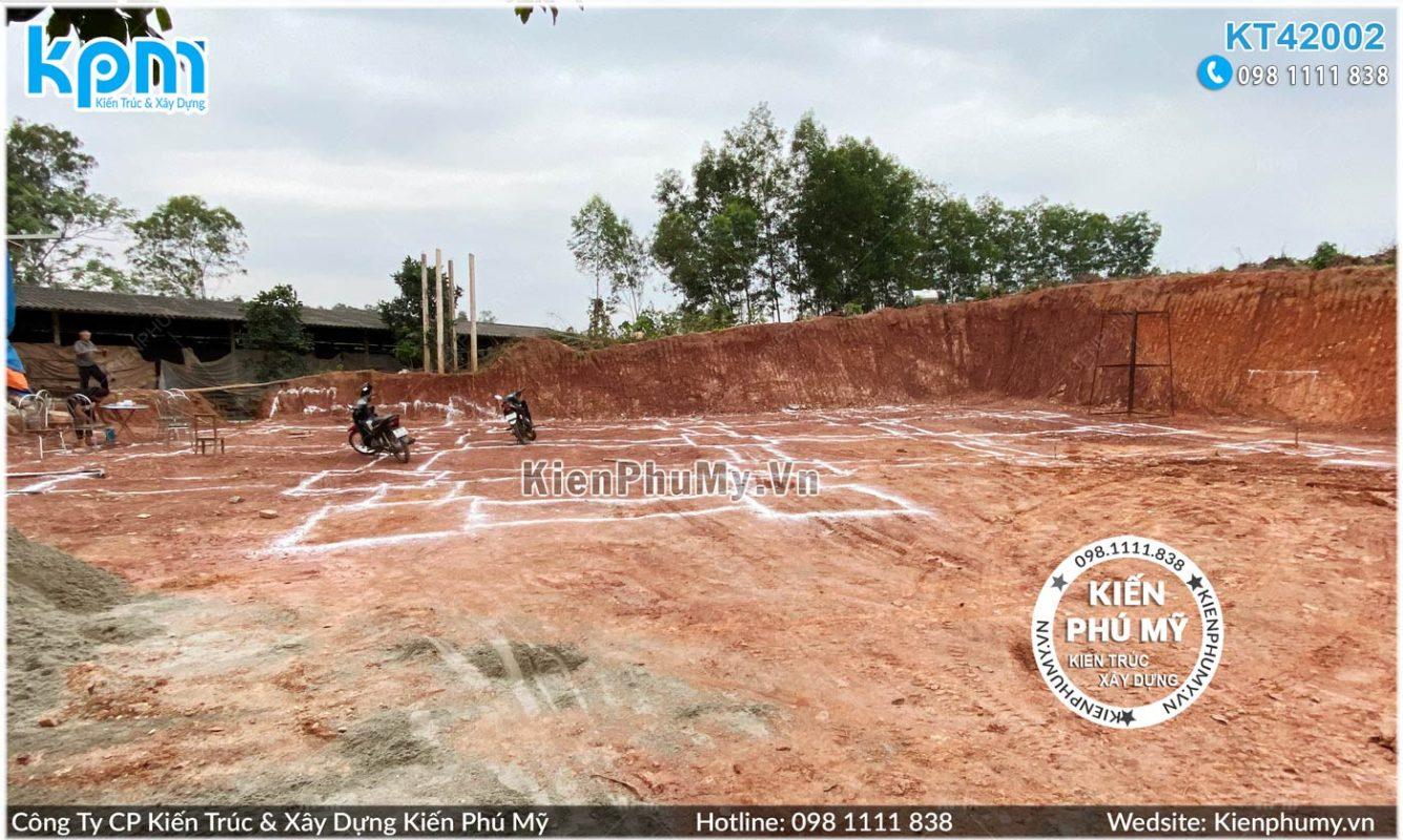 hiện trạng khu đất xây dựng