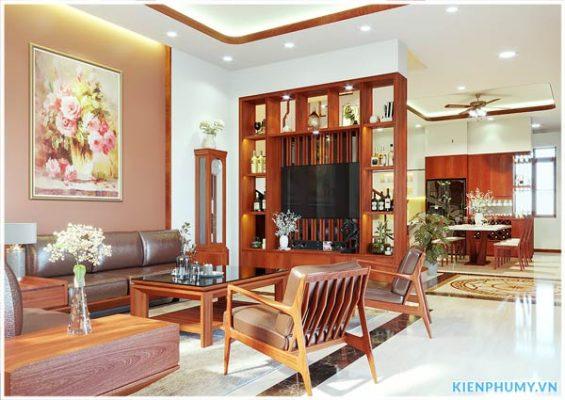 thiết kế nội thất nhà vườn mái thái hiện đại trẻ trung