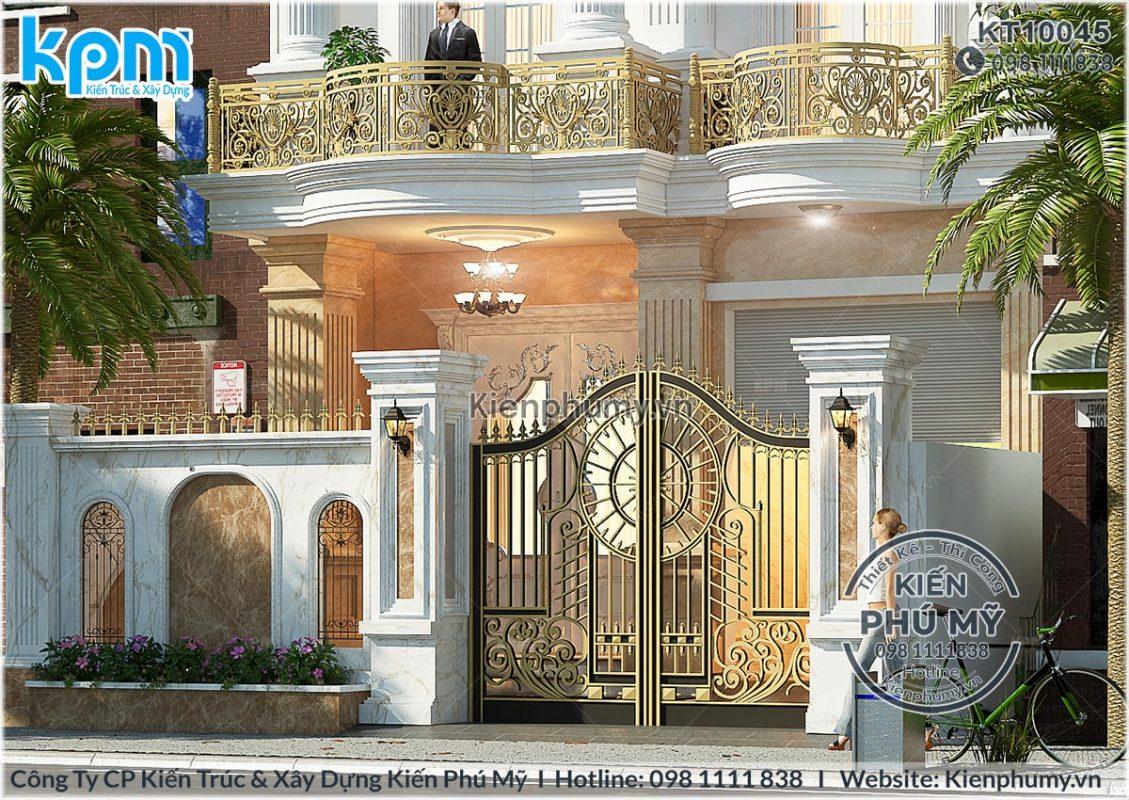 cổng tường rào chi tiết biệt thự 3 tầng