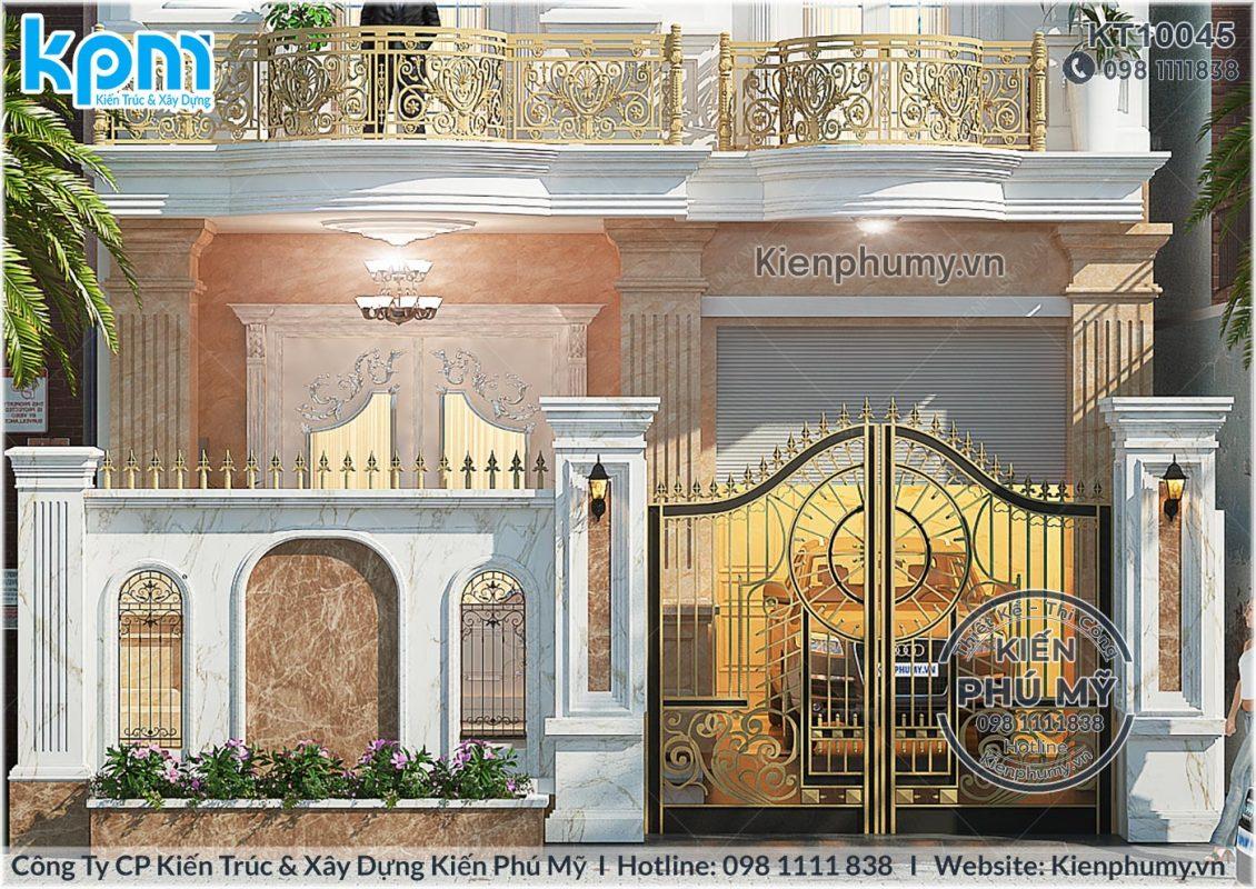 mẫu biệt thự 3 tầng-cổng rào