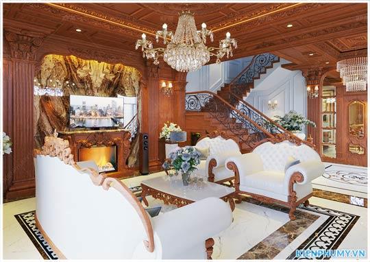 thiết kế nội thất tân cổ điển tại Hưng Yên